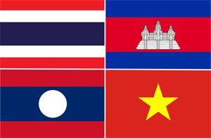 Flagge Indochina