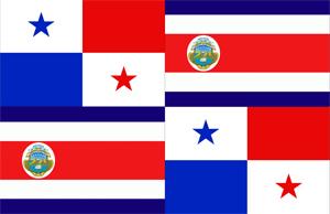 Flagge Zentralamerika